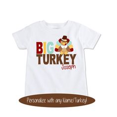 Big Brother turkey shirt sibling Thanksgiving outfit big by Exit17