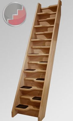 The Beech 40 Space Saver Staircase is the most robust compact loft spacesaver staircase available. Its steamed beech treads and string sections and optional carpet inserts make it a class leader in the Space Saver market. Space Saver Staircase, Small Staircase, Loft Staircase, Tiny House Stairs, Staircase Design, Stairs For Attic, Compact Stairs, Concrete Stairs, Modern Stairs