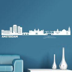 Skyline Amsterdam - VINILOS DECORATIVOS #decoracion #teleadhesivo #amsterdam
