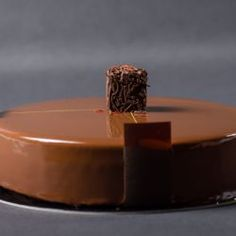 Chocolate Saffron Entremet // Fuel your passion with more recipes at www.pregelrecipes.com