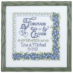 Forever and Ever - Cross Stitch, Needlepoint, Stitchery, and Embroidery Kits, Projects, and Needlecraft Tools | Stitchery