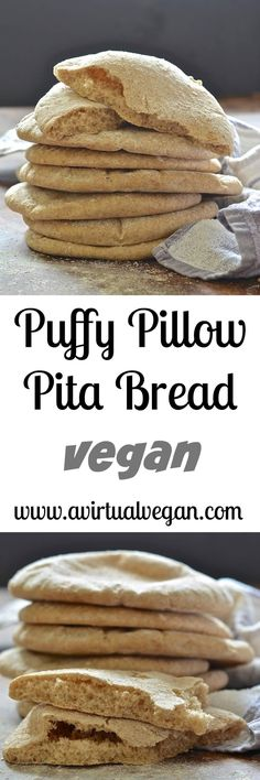 Make your own soft & delicious pita bread. These puffy little pillows are ready from start to finish in less than 1 hour & taste so much better than store bought varieties!  via @avirtualvegan