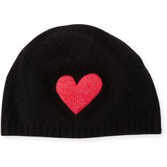 d6cebccb Portolano Cashmere Heart Beanie Hat ($95) ❤ liked on Polyvore featuring  accessories, hats