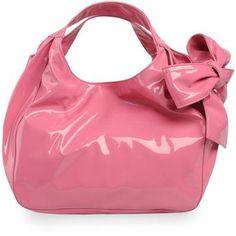 Valentino Pink Patent Bow Bag