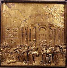 """(1378 – 1 December 1455), born Lorenzo di Bartolo, was a Florentine Italian artist of the Early Renaissance best known as the creator of the bronze doors of the Florence Baptistery, called by Michelangelo the """"Gates of Paradise"""". Trained as a goldsmith and sculptor, he established an important workshop for sculpture in metal. His book of Commentari contains important writing on art, as well as what may be the earliest surviving autobiography by any artist."""