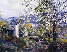 Edward Willis Redfield - Cherry Blossoms