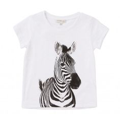 Work the season' favourite - and most fun - animal motif with our zebra print T-shirt. Wear it with our fluoro peplum skirt for a high impact, edgy look.