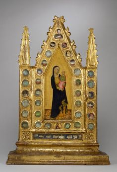 Reliquary Tabernacle with Virgin and Child, ca. 1350