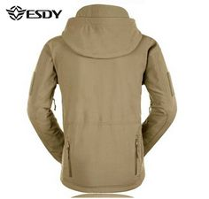 ESDY Mens Tactical Military Outdoor Waterproof Coat Softshell Outwear Concealed - US$35.45