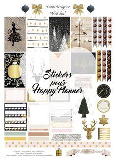 FREE stickers à imprimer pour Happy Planner ✯ Noël chic