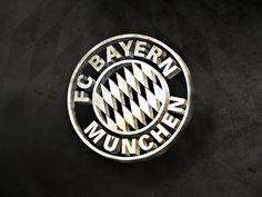 FC Bayern Munchen Black and White Logo Wallpaper HD