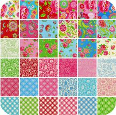 Gypsy Girl Fat Quarter Bundle - Entire Collection - 36 Fat Quarters by Lily Ashbury for Moda Fabrics