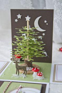 """Kennt ihr die Geschichte """"Der Tannenbaum""""? Sie hat mich in der Kindheit an Weihnachten immer stets begleitet und ich finde sie bis heute noch wunderschön und auch sehr traurig… aber auch mit viel Sinn dahinter. Man sollte einfach mit dem glücklich sein was man hat und nicht immer anderen Dingen hinterher jagen. Ich wollte diese … Christmas Tree Fairy, Christmas Gift Bags, Christmas Ornament Crafts, Stampin Up Christmas, Christmas Makes, Winter Christmas, Christmas Time, Christmas Decorations, Scrapbook Box"""