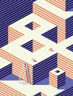 NEW REPUBLIC - Malika Favre graphic design illustration print technique lines modern cool minimal