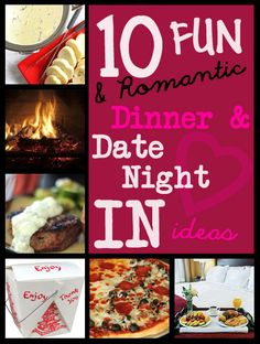 If a babysitter falls through, there is bad weather, or money is tight... you can still have a fun date night... at home! Love these ideas! #datenightIN