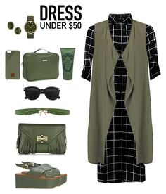 """""""Dress Under $50"""" by ysendjaja on Polyvore featuring Sisley, Moschino Cheap & Chic, Robert Clergerie, Diane Von Furstenberg, Native Union, WallyBags, Sisley Paris, Marc by Marc Jacobs, 1928 and Dressunder50"""