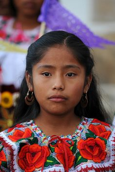 Girl from Teotitlan del Valle, Mexico. A testament to the beautiful, pure, Indian face of Mexico.