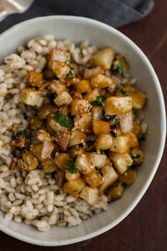 Sesame Roasted Turnips & Barley. #TurnipRecipes #LocalBox  Greenling.com