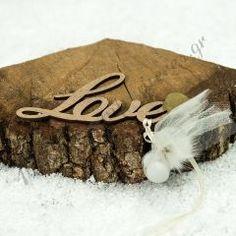 """ΜΠΟΜΠΟΝΙΕΡΑ ΜΕ ΞΎΛΙΝΟ ΔΙΑΚΟΣΜΗΤΙΚΟ """"LOVE"""" - ΚΩΔ:MPO-1203"""
