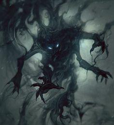 The Shadow Creatures Dark Fantasy Art, Fantasy Kunst, Dark Art, Shadow Creatures, Dark Creatures, Mythical Creatures, Demon Art, Monster Art, Shadow Monster