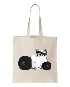 CHECK MEOWT Workout Tote Gym Bag Grocery by NobullWomanApparel, $15.50