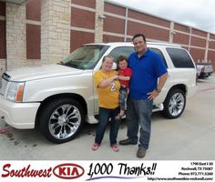 #HappyAnniversary to Edgar Escoto on your 2003 #Cadillac Truck #Escalade from Juan Cashat at Southwest KIA Rockwall!