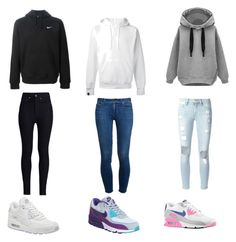 """""""Untitled #45"""" by swaeleeleeswae ❤ liked on Polyvore featuring Frame Denim, NIKE, Paige Denim, Rodarte and SWEAR"""