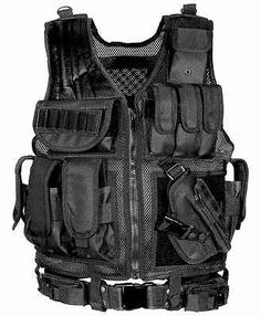 Armour Vest. This is a standard Bulletproof Vest that SWAT officer's wear. I'm going to be using this vest as inspiration for my characters vest, pulling key parts from it in my design.