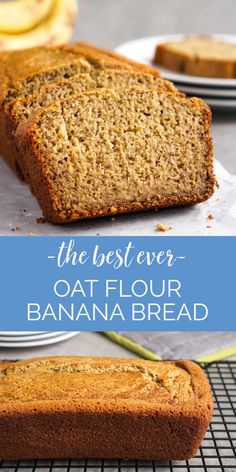 This oat flour banana bread is one of my favorite recipes! The texture and flavor are perfect, and it costs just $.28 per serving. You won't believe it doesn't have regular flour! (gluten-free, dairy-free) #bananabread #oats Oat Flour Banana Bread, Dairy Free Banana Bread, Oatmeal Bread, Make Banana Bread, Oat Bread Recipe Gluten Free, Paleo Oatmeal, Oatmeal Muffins, Oat Flour Recipes, Oats Recipes