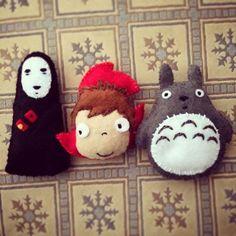 #Miyazaki #felt #pañolenci #ponyo #noface #totoro