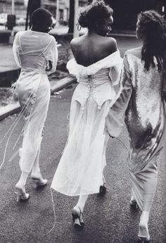 """""""Rags And Riches"""". Brandi Quinones, Beverly Peele and Lorraine Pascale by Peter Lindbergh for Harper's Bazaar US, March 1993"""
