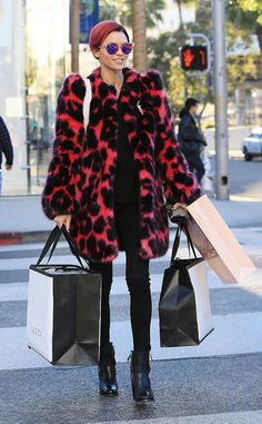 Ruby Rose from The Big Picture: Today's Hot Pics  Retail therapy! The star rocks magenta hair and a matching coat while shopping in Beverly Hills.