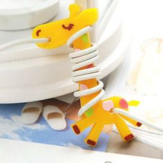 Cheap cord leash, Buy Quality cable grip directly from China cord jewellery Suppliers: Giraffes Cable Organizer Earphone Holder Headphone Earbud Winder Cable Cord For iPod Earphones Wrap, Cable Storage, Headphone Holder, Cable Organizer, Desktop Organization, Design Projects, Design Ideas, Giraffe, 3d Printing