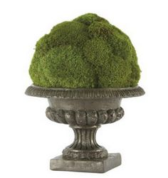 Moss filled urns made easy  ( and cheap! )