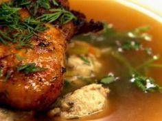 chicken-soup-with-ground-chicken-meatballs