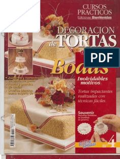 Curso Decoracion de Tortas de Boda Gift Wrapping, Table Decorations, Cake, Gifts, Food, World, Meal Prep, Cakes For Kids, Recipe Books