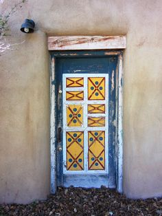 A painted door at the Los Luceros estate north of Espanola, NM.