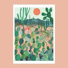 Day Club, A2 Size, Cactus Print, Various Artists, Good Day, Canning, Photo And Video, Inspiration, Instagram