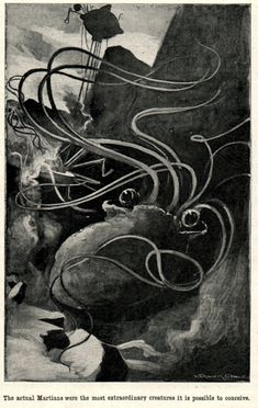 "H. G. Wells' novel ""The War of the Worlds"" as first serialized in Pearson's Magazine in 1897. Illustrations by Warwick Goble."