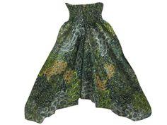 Amazon.com: Mogulinterior Baggy Harem Pant Olive Green Ali Baba Jumpsuit for Womens: Clothing