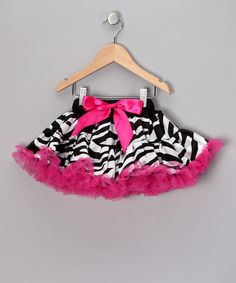 Take a look at this Pink Zebra Pettiskirt - Toddler  by So Girly & Twirly on #zulily today!