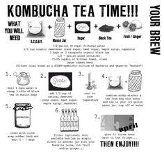 Tips for making kombucha ..... Kombucha tea (KT): Recipe – How to – Ideas – Probiotic – SCOBY