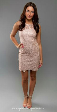 Fitted Lace Mini, $49.00