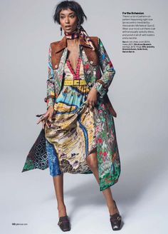 Anais Mali stars in Glamour Magazine February 2016 issue