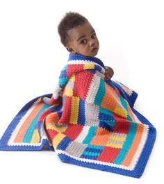 Modern Patchwork Crochet Throw - free pattern by Lion Brand at allfreecrochetafghanpatterns.