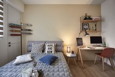 「bedroom wall design nordic」的圖片搜尋結果