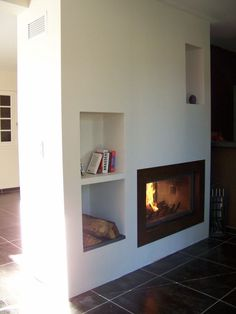 Insert Double Face, Inset Fireplace, Living Room Cupboards, Modern Foyer, Toulouse, Loft Room, Bordeaux, Hearth, Sweet Home