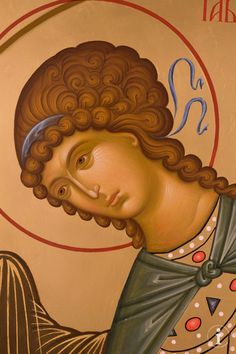 Religious Images, Religious Icons, Religious Art, Order Of Angels, Writing Icon, Crafty Angels, Face Icon, Archangel Gabriel, Russian Icons