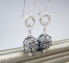 Fancy Earrings 25th Anniversary Gift Nickel Free by TouchOfSilver