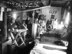 Gulag women living in overcrowded, poorly heated barracks. Courtesy of the International Memorial Society.